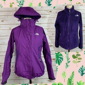 North Face Hyvent 3-in-1 Triclimate Purple Fuzzy S